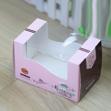 7.5*8*12.5cm bakery roast retail cookery bakers,cake box,doughnut,pancake,gift western buffet cardboard box 100pcs/lot