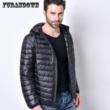 Winter Autumn Ultra Light Down Jacket Men 90% White Duck Down Coats Plus Size Hooded Parkas Short Jackets(China)