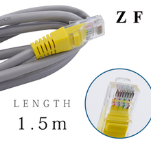 ZF 1.5m 5ft RJ45 Cable Cat5e Network Ethernet Network Cable for computer Router Laptop Network Station WIFI wholesale
