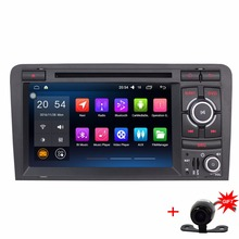 7'' 1024*600 Quad Core Car Stereo multimedia For Audi A3 2 Din Android 6.0.1 Car GPS Navigation Radio Bluetooth(China)