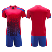 New kids soccer kits men's custom football jersey paintless soccer training suits sports soccer jerseys 2016/17 breathable kits