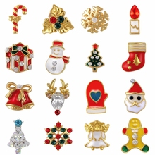 20PCS metal 3d nail art christmas decorations charms nails glitter rhinestones nail supplies jewelry(China)