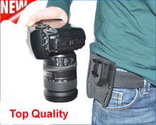 Free Shipping! COMLYO Professional KiOra K-BM1 Tripod Mount Clip Belt mount for Canon/Nikon SLR DSLR camera base for mounting(China)