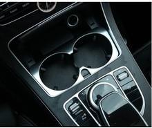 Car Accessories Mercedes Benz C Class W205 GLC 2015 2016 E W213 2017 Cup Holder Trim Sticker,Car Styling