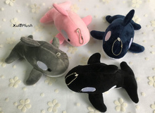 NEW HOT 4Colors -Medium 15CM Whale Plush Stuffed TOY , Stuffed Animal Dolphin Plush Toys dolls with key chain(China)