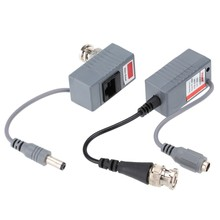 Yumiki CCTV Camera Video Balun Transceiver BNC UTP RJ45 Video and Power over CAT5/5E/6 Cable(China)