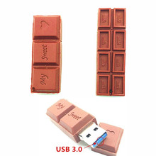 Flash USB 3.0 Flash Drive Cartoon Love Sweet Chocolate Flash Drive 4GB 8GB 16GB 32GB 64GB USB Flash Memory Stick  Pendrive Gift