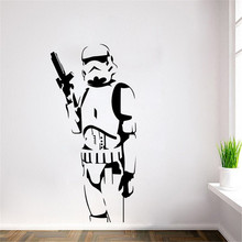 DIY Star Wars Character Wall Stickers Suitable For The Living Room Home Decor Art Posters(China)