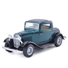 Brand New KiNSMART 1:36 Scale Retro Antique Classic Car Diecast Alloy Car Model With Pull Back For Kids Toy Gift Free Shipping(China)