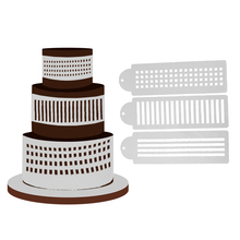 3pcs/Lot Stripes Cake Stencil Sugarcraft Cake Decorating Cake Mold Stencil Baking Products