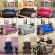 Various Color 1 /2 / 3-Seater Sofa Arm Chair Settee Protector Furniture Throw Slip Cover Choice