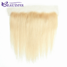 Buy BEAUDIVA HAIR Brazilian Remy Human Hair 613 Blonde Lace Frontal Closure Free Part Straight 13x4 Bleached Knots Baby Hair for $59.08 in AliExpress store