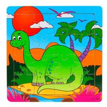Gift Wooden dinosaur Puzzle Educational Developmental Baby Kids Training toys for children Pos #XT