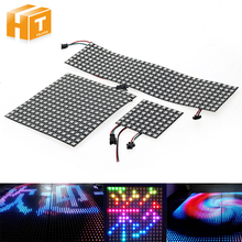 5050 RGB WS2812 Full Color Display Board DC5V 8*8 / 16*16 /8*32 64 256 LEDs Flexible Pixel Panel Screen(China)