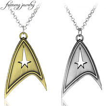 Star Trek Necklace Enterprise Command Logo Metal Pendant Communicator Darkness Starfleet Command Movie Statement Necklace