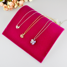 Free Shipping,Hot Pink Velvet Necklace Bracelet Curved Showcase Holder 2pcs/lot Velvet Jewelry Display Stand