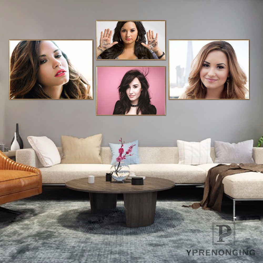 Custom Demi Lovato DJ Khaled Tour Silk Poster Wall Decor