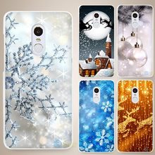 Merry Christmas Hard White Cell Phone Case Cover for Xiaomi Mi Redmi Note 4 Pro 4A 4C 4X 5X 5 6(China)