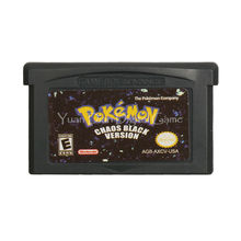 Nintendo GBA Video Game Cartridge Console Card Pokemon Series Chaos Black English Language Version(China)