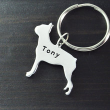 Boston Terrier  keychain dog key chain alloy  hand cut  Boston Terrier  pendant beautiful charm