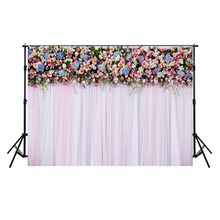 Hot Floral Photography Wedding Backdrops Vinyl Backdrop For Photography Camera Fotografica Wedding Background For Photo Studio