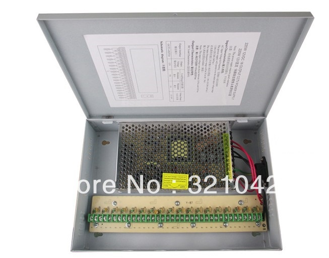 18CH 12V 15A CCTV Power Supply Box / 12V 15A 180W Monitor Switch Power supply<br>