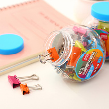 Many defferent sizes candy color liras purse multicolour fashion tank packaging metal dovetail clip deli metal binder clips(China)