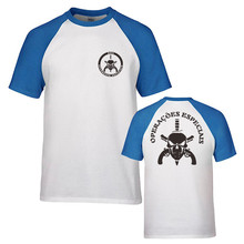 BOPE Elite Death Squad Special Force Unit Military GSG-9  Police T-shirt Mens Cotton Raglan Sleeve T Shirt Tees