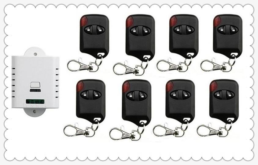 85V 110V 120V 220V 250V 1CH Wireless Remote Control Switch Receiver + 8pcs cat eye Transmitters for Appliances Gate Garage Door<br>