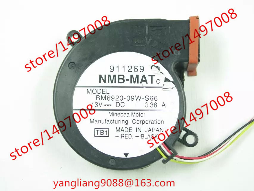 Free Shipping For  NMB BM6920-09W-S66, TB1 DC 13V 0.38A 4-wire 4-pin connector 70mm Server Blower Cooling fan<br>