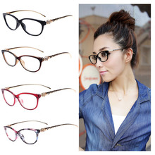 8 Colors 2017 Fashion Cheetah Earstems Glasses frames Women Ladies Leopard Decorative Reading Glasses Frame Eyeglasses No Degree(China)
