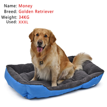 Big Size Pet Dog Bed Soft Material Pet Nest Dog Fall and Winter Warm Nest Kennel For Cat Puppy Wholesale S-3XL(China)