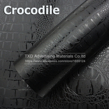 10/20/30/40/50/60x152CM Premium quality Crocodile Leather PVC Vinyl Sticker With air channels Crocodile Vinyl Film for car Wrap