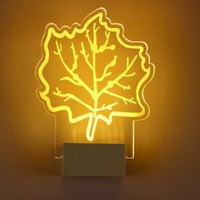Free shipping indoor maple leaf LED wall lamp bed room night light 220V 8W