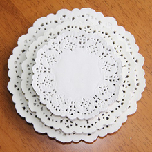 120 Pcs White Round Lace Paper Doilies / Doyleys,Vintage Coasters / Placemat Craft Wedding Christmas Table Decoration