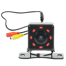 Car Rear View Camera On License Plate 120 Degree Wide Angle Reverse Backup Camera with 8 IR LED Night Vision Parking Assistance