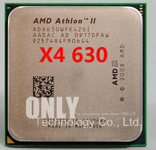 free shipping Amd ii Athlon x4 630 quad-core scattered pieces cpu am3 2.8G 2M cpu quad-core processor(China)