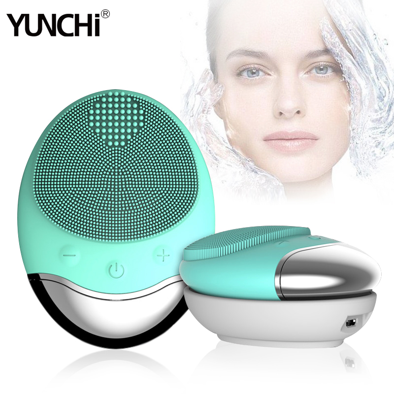 Sonic Electric Face Cleansing Brush Negative Ion Importer Face Massager Deep Clean Pores Waterproof Wireless Inductive Charging