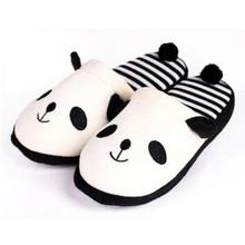 2016 New Adorable Fluffy Ladies Autumn Winter Warm Plush Anti-slip Panda Tail Women Slippers Cute Coral Soft Home Slippers