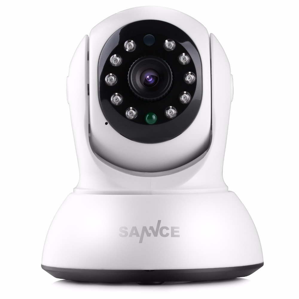 SANNCE Mini HD 720P Wireless IP Camera Smart WiFi Security Camera P2P Onvif Baby Monitor 720P Network CCTV Surveillance Camera<br>