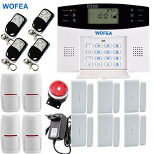 Smarts English Russian Spanish French GSM SMS Home Burglar Security GSM Alarm System Detector Sensor Kit Remote Control