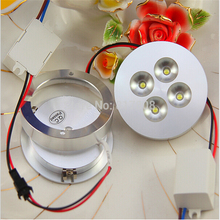 Free Shipping , DC12V/AC85-265V 4X3W 12W LED Puck Light, LED Puck Lamp, LED Furniture Light(China)