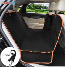 Dog Car Seat Cover protector Cushion Cover Waterproof Durable Practical Black Oxford Hammock Mat For Pet Side Flaps SUPERART(China)