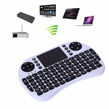 USB 2.4G Wireless Keyboard Touchpad Air Mouse Rechargeable Remote Control Auto Sleep Wake Fly Mouse for PC Tablet Android TV Box