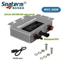 Free shipping!!Waterproof MPPT 300Watts 22-50VDC 120VAC 220VAC Micro on grid tied pure sine wave Solar power inverter converter(China)