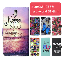 Fashion cartoon printed flip wallet leather case for VKworld G1 Giant,free gift