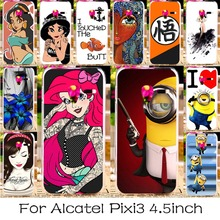 Printed Phone Case For Alcatel OneTouch One Touch Pixi 3 4.5 inch 4027 4028 5017D 5019D Case 4027X 4027D 4028A 5017X/5017 Shell