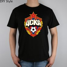 The central cska Moscow Russia LOGO T-shirt Top Lycra Cotton Men T shirt New Design High Quality Digital Inkjet Printing