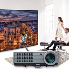 2017 New brand mini Home Theater Video LCD TV cinema PICO HDMI Portable full HD  LED projector Proyector beamer