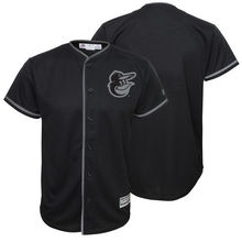 MLB Youth Baltimore Orioles Baseball Black Blackout Glow-in-the-Dark Cool Base Jersey(China)